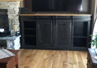 TV Unit with Sliding Doors